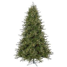 7.5' Madison Frasier Fir Artificial Christmas Tree with 750 LED Clear Dura-Lit Lights with Stand