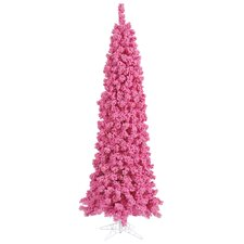 4.5' Flocked Pink Pine Christmas Tree