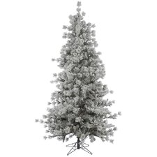 10' Flocked Anchorage Christmas Tree with Stand