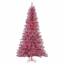 6.5' Orchid Pink Artificial Christmas Tree with 450 LED Pink Lights