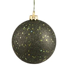 Sequin Ball Drilled Ornament (Set of 6)