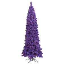 6.5' Flocked Purple Pine Christmas Tree with 250 LED Purple Lights
