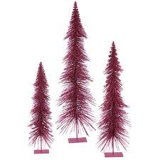 3 Piece Glitter Layered Christmas Tree