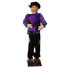 Decorative Plush Pumpkin Standing Scarecrow