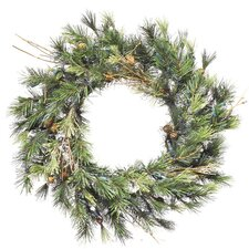 "16"" Lighted Artificial Mixed Country Pine Christmas Wreath"