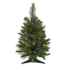 2' Pine Cashmere Christmas Tree with LED Multi Light