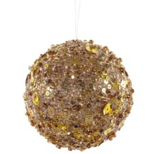 Sparkle Glitter and Sequin Kissing Christmas Ball Ornament
