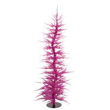Whimsical 5' Fuchsia Laser Artificial Christmas Tree
