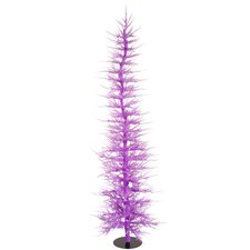Whimsical 6' Lavender Laser Artificial Christmas Tree