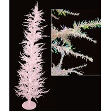 Whimsical 6' Pink Laser Artificial Christmas Tree