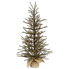 2' Vienna Twig Artificial Christmas Tree with Clear Lights