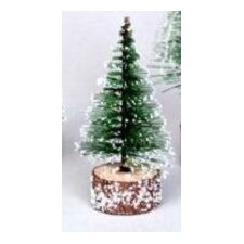 0.4' Green Frosted Artificial Village Christmas Tree