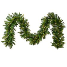 Battery Operated Pre Lit Cashmere Pine Christmas Garland with Lights