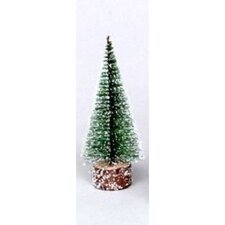 0.8' Green Frosted Artificial Village Christmas Tree