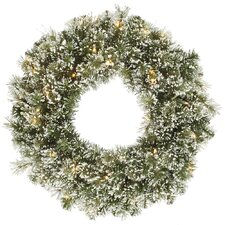 "24"" Artificial Frosted Cashmere Pine Christmas Wreath"