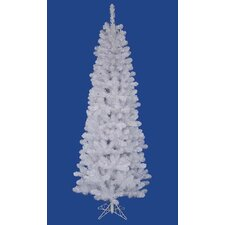 4.5' White Salem Pine Pencil Profile Artificial Christmas Tree