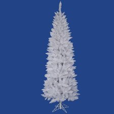 7.5' White Sparkle Spruce Pencil Artificial Christmas Tree