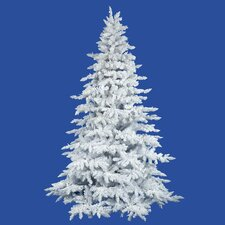 4.5' Flocked White Spruce Full Artificial Christmas Tree