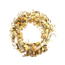 "24"" Artificial Rustic Earth Tone Tree Bark Inspired Christmas Wreath"