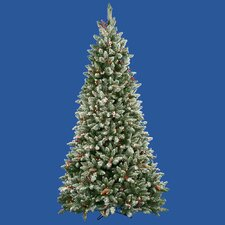 7.5' Frosted Edina Fir Cones and Berries Christmas Tree with Clear Lights