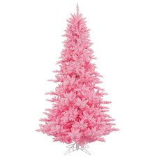 6.5' Pretty in Pink Fir Artificial Christmas Tree with Pink Lights