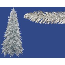 4.5' Silver Ashley Spruce Tinsel Christmas Tree with Clear Lights