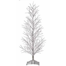 3' Silver Fiber Optic Christmas Twig Tree with Multi Light