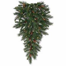Cheyenne Pine Artificial Christmas Teardrop Swag with Lights
