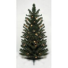 2' Canadian Pine Artificial Christmas Tree with Clear Lights