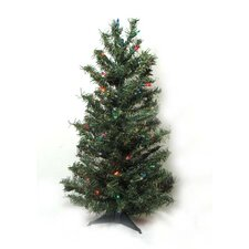 2' Canadian Pine Artificial Christmas Tree with Multi Lights