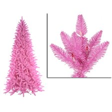 9' Pink Ashley Spruce Christmas Tree with Clear and Pink Lights