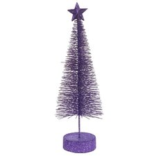 Glitter Sisal Artificial Table Top Christmas Tree (Pack of 2)