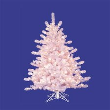4.5' White Crystal Pine Christmas Tree with Clear Lights