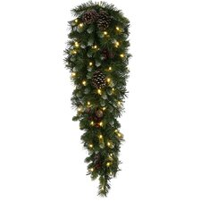 Frosted Ashberry Pine Artificial Christmas Teardrop Swag