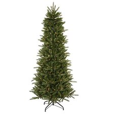 12' Vermont Fir Instant Shape Artificial Christmas Tree with Clear Light