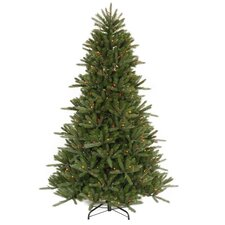 6.5' Vermont Fir Instant Shape Artificial Christmas Tree with Multi Lights