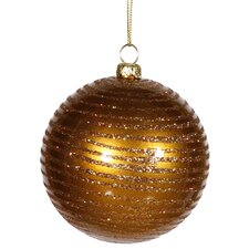 Glitter Striped Shatterproof Christmas Ball Ornament