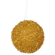 Glitter Drenched Christmas Ball Ornament (Set of 4)