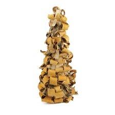 Rustic Earth Tone Tree Bark Inspired Table Top Christmas Cone Tree