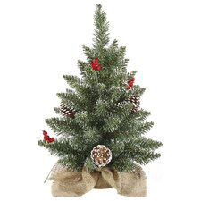 1.5' Frosted Pine Cone and Berry Artificial Christmas Tree