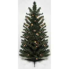2.5' Canadian Pine Artificial Christmas Tree with Clear Lights