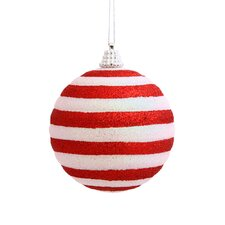 Candy Cane Stripe Ornament (Set of 4)