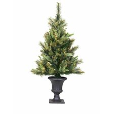 Cashmere 3.5' Green Pine Artificial Christmas Tree with 110 LED Multi-Colored Lights