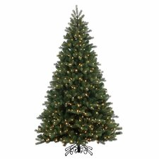 9' Green Spruce Artificial Christmas Tree with 1000 LED Warm White Lights with Stand