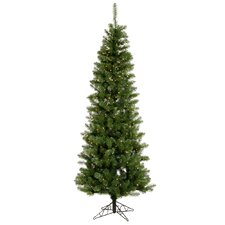 Salem Pencil 6.5' Green Pine Artificial Christmas Tree with 200 LED White Lights with Stand