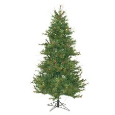 Mixed Country Pine Slim 7.5' Green Artificial Christmas Tree with Stand