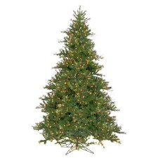 Mixed Country Pine 9' Green Artificial Christmas Tree with 1100 Clear Lights with Stand