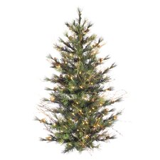 Mixed Country Pine 4' Wall Artificial Christmas Tree