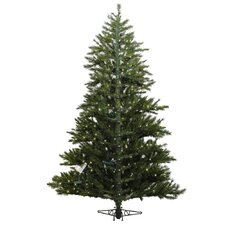 Minnesota Pine Westbrook 7.5' Green Artificial Half Christmas Tree with 500 Clear Lights with Stand