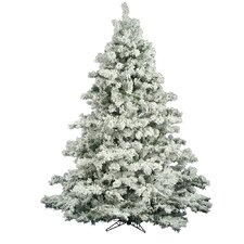 Flocked Alaskan 6.5' White Pine Artificial Christmas Tree